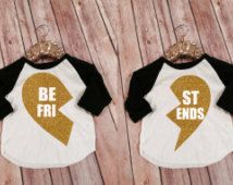 Best Friends Kid's Raglans, Best Friends Forever Shirts, Matching Mommy and Me BFF Shirts, Custom Best Friend Shirts, BFF Matching Shirt set