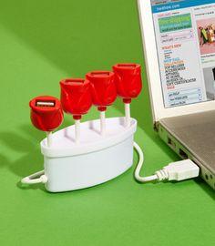 USB hub that looks like little tulips! so fantastic!