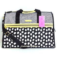 Betsey Johnson Polka Dot Weekender Duffle Gym Travel Tote Bag NWT #BetseyJohnson #ShoulderBagToteShoppersWeekenderDiaper