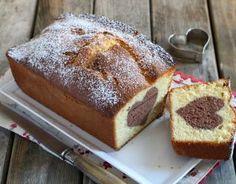 Recette - Cake vanille et son coeur au chocolat en pas à pas