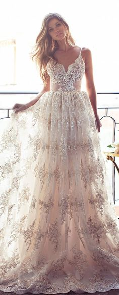 Lurelly Bridal Lace Wedding Dress | Deer Pearl Flowers