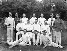 May 22 1909.Cricket Team at Barracks, (almost certainly) Waterford. Nat'l Library Ireland.