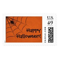 Happy Halloween // Spider in a web Postage - Halloween happyhalloween festival party holiday