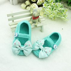 NEW Handmade Crochet Baby Booties / soft baby toddle bow  sandals for 0-12months baby 011