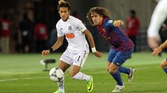Neymar vs Carles Puyol / PHOTO: MIGUEL RUIZ-FCB.