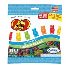 JELLY BELLY SUGAR FREE GUMMI BEARS - SUGARFREE GUMMY CANDIES - 2.8oz Bag #JellyBelly