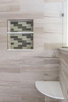 Natural Contemporary Master Bathroom #modern #bathroom #homedecor #bathroomideas #bathroomdesign #remodeling #interiordesign Bathroom Modern, Master Bathroom, Bathroom Renovations, Home Remodeling, Pebble Shower Floor, Lighted Medicine Cabinet, Sunken Tub, Custom Shower Doors, Neo Angle Shower