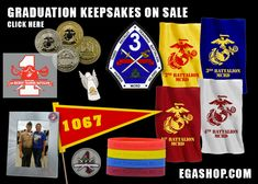 Ooh Rah spirit items to take with you to recruit graduation or to keep as mementos. Christmas In July, Boot Camp, Keepsakes, Marine Corps, Usmc, Graduation, Friday, Store, Souvenirs