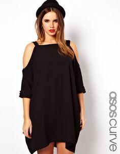 58e5c4c7b1b9 ASOS Curve | ASOS CURVE Swing Dress With Cold Shoulder at ASOS Plus Dresses,  Plus