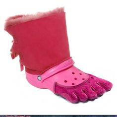 all ugly shoes in one!!  :o)