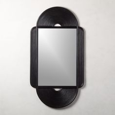 Black lends a dramatic edge to laid-back rattan mirror. Rattan bends softly around mirror glass to create texture and dimension. Mounting hardware is not included. Large Round Mirror, Round Wall Mirror, Mirror Set, Black Mirror, Mirror Glass, Mantel Mirrors, Home Decor Mirrors, Wall Mirrors, Arch Mirror