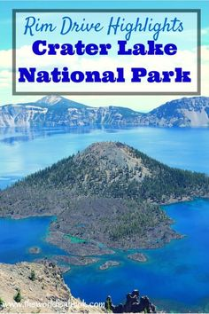 Guide and tips to seeing the Highlights from the scenic Rim Drive around Crater Lake National Park with kids.   Oregon with kids. See the sights around the country's deepest lake at theworldisabook.com