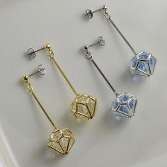 レシピ詳細 | Parts Club Diy Jewelry Necklace, Seed Bead Jewelry, Bead Jewellery, Jewelry Crafts, Tiny Earrings, Beaded Earrings, Bead Loom Bracelets, Beaded Jewelry Patterns, Wire Wrapped Jewelry
