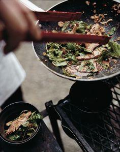 Warm Flank Steak Salad with Mint and Cilantro, via food and wine, photo: Cedric Angeles, #recipe @ http://www.foodandwine.com/recipes/warm-flank-steak-salad-with-mint-and-cilantro