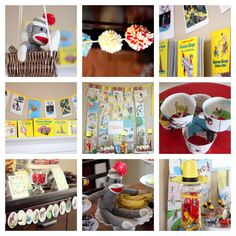 amazing details in this curios george baby shower