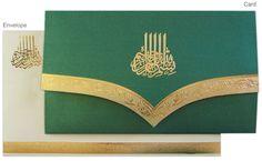 Regal Muslim Wedding Marriage Invitation Cards