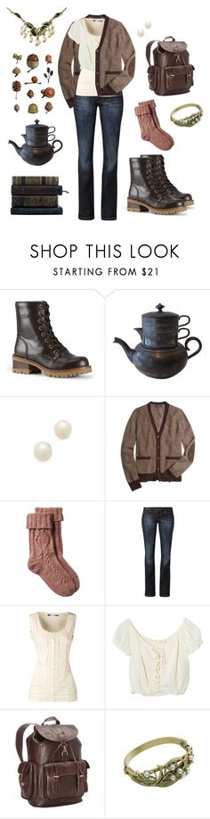 """Traipsing"" by hollyp0789 ❤ liked on Polyvore featuring Lugz, Juliet & Company, Brooks Brothers, Fat Face, CROSS Jeanswear, Dorothy Perkins, Jens Pirate Booty, Ropin West, Sweet Romance and woodland"