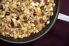 Chestnut sausage and apple stuffing