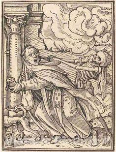 <p>Artist: Hans Holbein the Younger | Print: Mendicant Friar | Original Medium: woodcut</p> Robert Campin, Renaissance, La Danse Macabre, Dance Of Death, Hans Holbein The Younger, Woodcut Art, The Monks, Art Graphique, Medieval Art