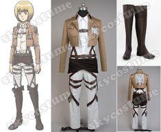 Attack on Titan Shingeki no Kyojin Training Corps Armin Arlart Boots Costume - Skycostume