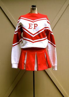Varsity Cheerleading Costume Uniform Orange Gold 100 Sweater Skirt Team Sports Cheerleading 36 M Be Novel In Design