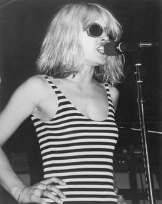 Debbie Harry in stripes