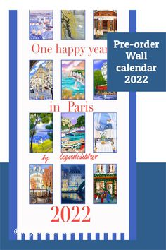 Calendar 2022, Wall art calendar, Calendar 2022, Hanging Calendar 2022 New Year Calendar, Diy Calendar, Calendar Pages, Dinning Room Wall Decor, Paris Gifts, Moving To Paris, Happy Year, Christmas Is Coming, Gifts For Mum
