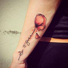 #tattoo #poppy #poppytattoo #papavero #abstract #abstracttattoo #avantgarde…
