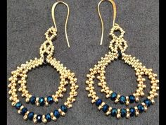 Seed bead jewelry orecchini Simonetta – seed bead video tutorial Discovred by : Linda Linebaugh Jewelry Design Earrings, Seed Bead Jewelry, Bead Jewellery, Seed Bead Earrings, Beaded Earrings, Earrings Handmade, Beaded Jewelry, Diy Jewelry, Jewelry Party