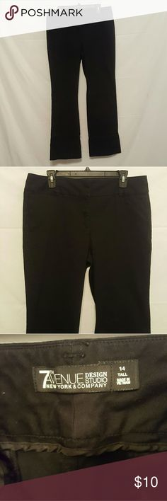 New york & company Pants 14 tall Size 14 tall New York  & Company  Black pants In great condition New York & Company Pants