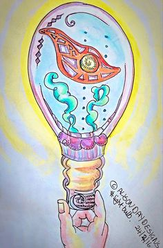 Light Bulb by Alison Day Illustrator for hire