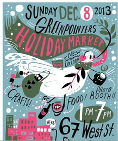 Your Guide to Brooklyn's Holiday Markets craft fair poster/flyer