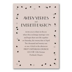 Affectionate Romance Invitation - Pastel Coral Shimmer. Available at Persnickety Invitation Studio.