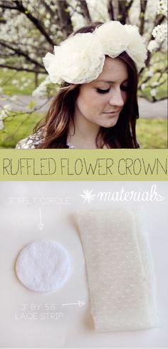 DIY Ruffle flower crown - see kate sew