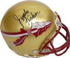 Jimbo Fisher signed Florida State Seminoles Replica Mini Helmet