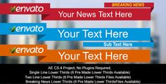 After Effects Project Files - Lower Thirds | VideoHive
