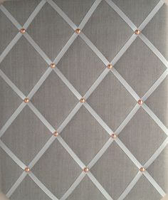 Pin Board/Notice Board Grey Linen Fabric with by eternalearth08