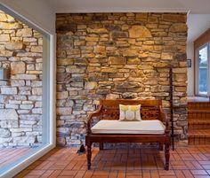 love the indoor/outdoor stone