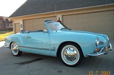 1967 Carmen Ghia. The hotest VW ever made. Yep! We had one just like this except white when we moved to LA in '67.