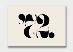 Creative Logo, Collection, Number, Theory, and image ideas & inspiration on Designspiration Typography Inspiration, Logo Design Inspiration, Daily Inspiration, Typography Logo, Typography Design, New Year Card Design, Number Theory, Graphic Design Fonts, Anniversary Logo