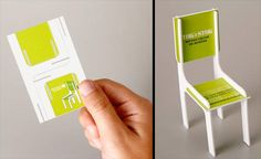 Fold-able Chair Business Card - Cool business card designed for Tok that transforms into a chair.