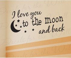 I Love You Baby Boy Girl Room Wall Sticker Quote
