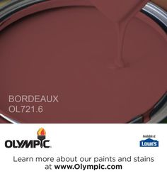 BORDEAUX OL721.6 is a part of the reds collection by Olympic® Paint.