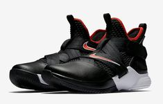 Nike LeBron Soldier 12 Color  Black University Red-White Style Code  AO2609 6ee66c456