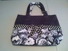"""Free Personalization Black and white paisley Monogrammable Quilted 3pc Set Large Diaper Bag (15""""X13""""X5"""").It comes with a matching changing pad and cosmetic bag. It is great for carrying arround baby essentials while being in style. This makes a great baby shower gift. Please let us know if you would like us to gift wrap it and send it with a card to that someone special as a present. If you remove the changing pad you can give this as a gift to your bridesmaids. It is great for an everyday…"""