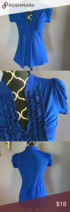 Heart Soul Dressy Royal blue top Excellent condition, ready for work! HeartSoul Tops Blouses