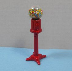 NOS Miniature Scale Dollhouse Gumball Machine