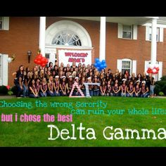 Bid Day Fall 2011, Eta Chapter - University of Akron - oldest existing chapter of Delta Gamma