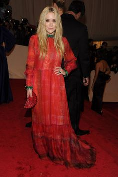 Mary-Kate Olsen, in vintage Givenchy, with Van Cleef & Arpels and David Webb jewels.