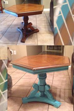 Table makeover with chalk paint